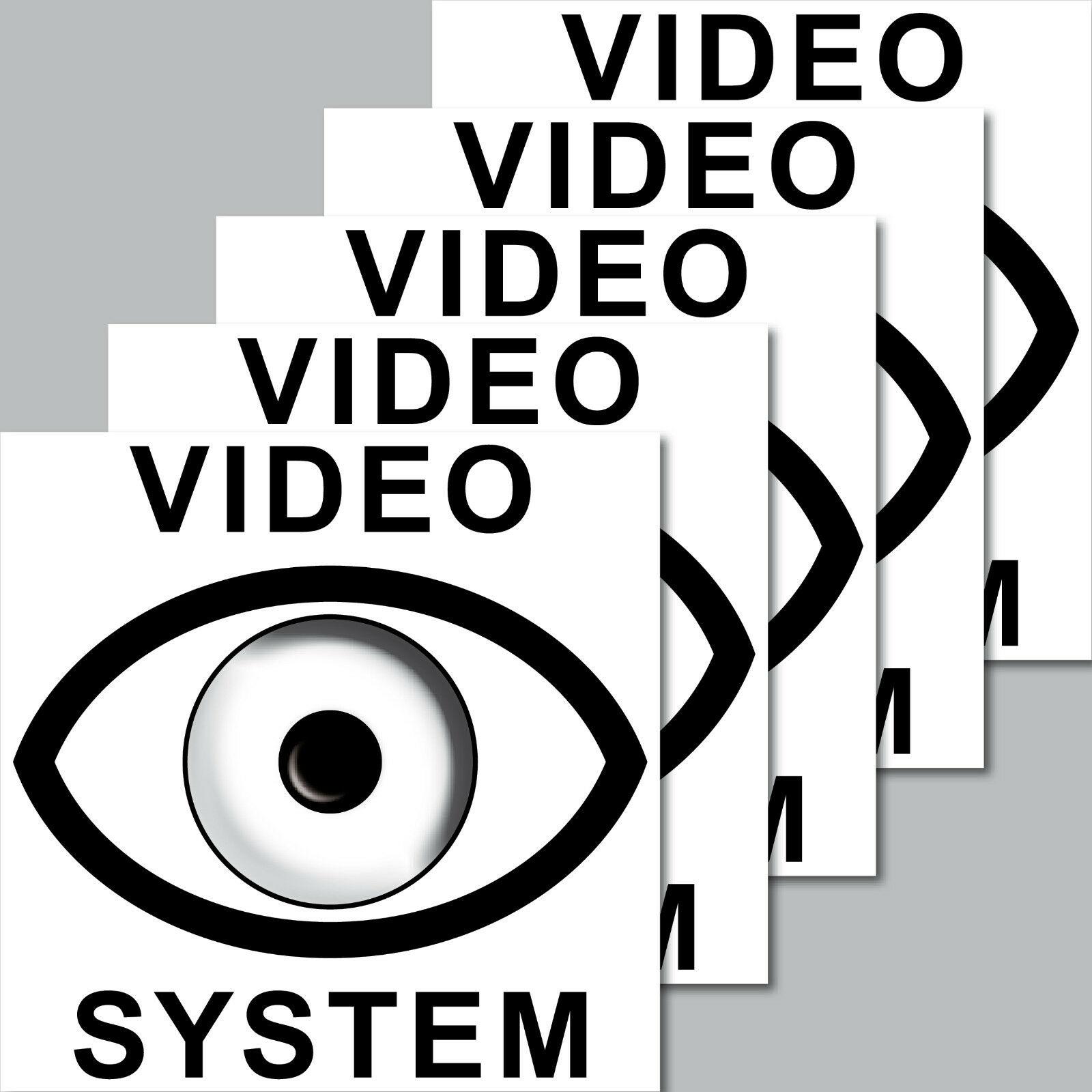 5 Aufkleber 7cm Video Auge System Cctv Kamera überwacht Sticker Für Außenseite