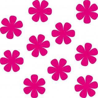 12 Aufkleber 5cm pink Tattoo Blumen Blümchen Blüten Deko Folie Auto Fenster Tür