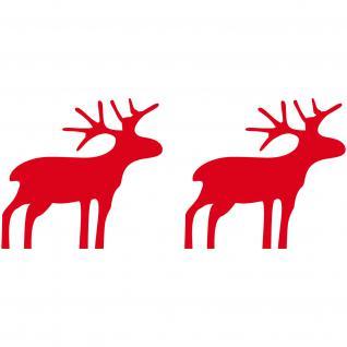 Elch 8cm Rudolph Aufkleber Rentiere Fenster Tür Deko Folie Winter Weihnachten