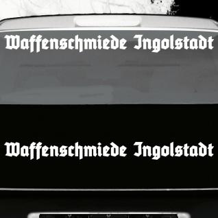 2 Stück Waffenschmiede Ingolstadt 70cm weiß Auto Deko Aufkleber Tattoo Folie