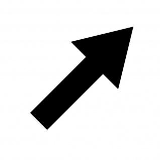 Aufkleber Pfeil 10cm breit schwarz Tattoo Auto Tür Folie Weg Hinweis Richtung