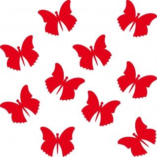 10 Aufkleber 5cm rot Tattoo Schmetterlinge Falter Deko Folie Auto Fenster Tür