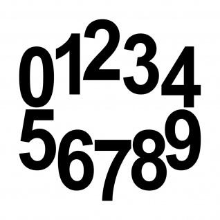 10 Aufkleber Tattoo 12cm schwarz Zahl Zimmer Haus Tür Spind Start Nummer Ziffer