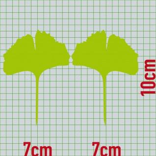 1 Paar 2 Blätter 10cm grün Ginkgo Blatt Aufkleber Tattoo Gingko 4061963037560 - Vorschau 2