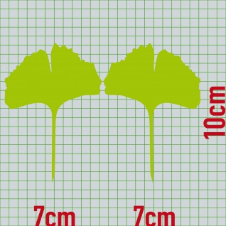 1 Paar 2 Blätter 10cm grün voll Ginkgo Blatt Aufkleber Tattoo Ginko Gingko Folie - Vorschau 2