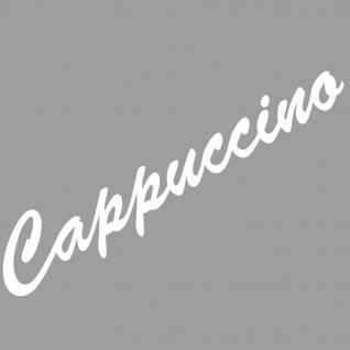 Cappuccino 37cm weiß Schriftzug Wandtattoo Aufkleber Tattoo Deko Folie Bar Küche