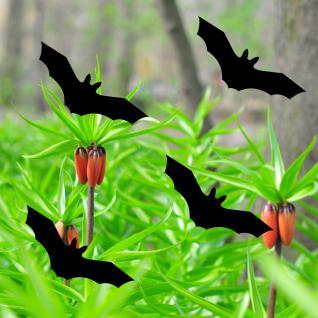 Fledermaus Warnvögel 10cm schwarz Warnvogel Aufkleber Vogel Fenster Glas Schutz