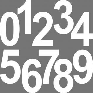 1 Stück 15cm weiß Aufkleber Tattoo Hausnummer Wunschziffer Zahl Nummer Ziffer - Vorschau 3