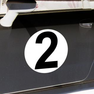 2 Aufkleber 20cm Start Nummer 2 Ziffer Zahl Sticker Racing Auto Motor Sport Kart