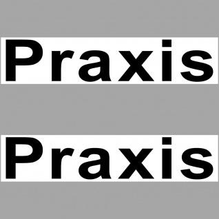 Aufkleber 20cm Sticker Praxis Hinweis Tür Arzt Briefkasten Regal Kiste Schrank