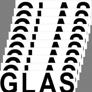 Aufkleber Glas 20cm Sticker Hinweis Alt Müll Trennung DIN ISO Eimer Kontainer