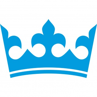 30cm blau Krone König Aufkleber Tattoo Kinder Zimmer Auto Heck Fenster Tür Möbel