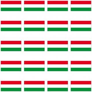20 Aufkleber 2cm Ungarn HUN HU Länder Fahne Flagge Mini Sticker RC Modellbau