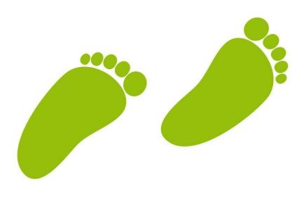 1 Paar 2 Füße 8cm grün Baby Fuß Abdruck Spur Aufkleber Tattoo Möbel Deko Folie - Vorschau 3
