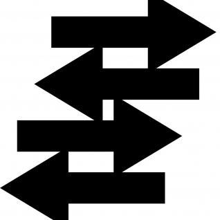 Aufkleber Pfeil 30cm schwarz breit Tattoo Auto Tür Tor Weg Hinweis Lauf Richtung