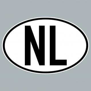 NL Aufkleber Sticker Niederlande Länderkennung Länderkennzeichen 4061963019849