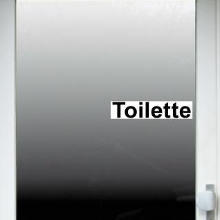 Aufkleber 20cm Toilette Sticker Hinweis Wegweiser WC BAD 00 Klo Tür Schild - Vorschau 3