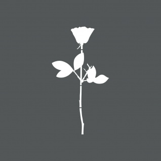 Rose 12cm weiß Auto Tür Fenster Möbel Deko Folie Depeche Mode Aufkleber Tattoo