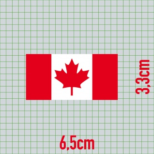 Aufkleber 6, 5cm Sticker CAN Kanada canadian Flagge Fahne Fußball Fan EM WM Deko - Vorschau 2