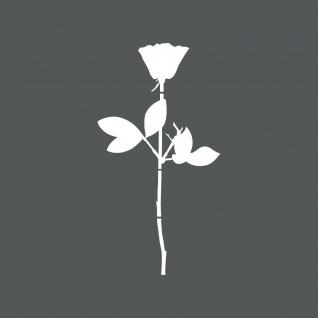 Rose 20cm weiß Auto Fenster Folie Depeche Mode Aufkleber Tattoo 4061963036952