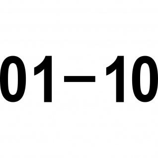 01 - 10 zweistellige Ziffern 4cm Zahlen Haus Zimmer Nummern Aufkleber Tattoo