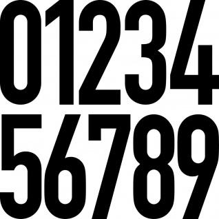 10 Aufkleber 50cm schwarz DIN Tattoo Ziffer Zahl Praxis Haus Tür Zimmer Nummer