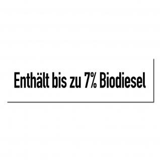 Aufkleber Sticker Tankstelle Zapfsäule Benzin Enthält bis zu 7% Biodiesel Diesel