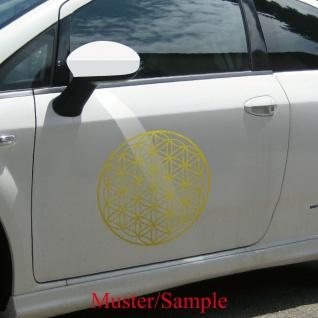 Aufkleber Tattoo 40cm gold Auto Tür Fenster Folie Blume des Lebens Lebensblume - Vorschau 4