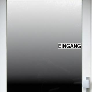Set Aufkleber 20cm Eingang & Ausgang Sticker Hinweis für Tür Haustür Eingangstür - Vorschau 4