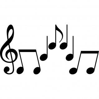 Set M Noten schwarz Violinschlüssel Notenschlüssel Musik Auto Aufkleber Tattoo