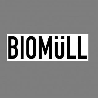Aufkleber Biomüll 20cm Sticker Hinweis Müll Trennung Kontainer 4061963018804
