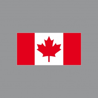 10 Aufkleber 6, 5cm Sticker Kanada CAN canadian Fußball Deko EM WM Flagge Fahne
