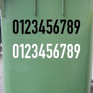 7cm DIN1451 Wunsch Wahl Nr Aufkleber Haus Nummer Ziffer Zahl Hausnummer Tattoo