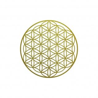 Aufkleber Tattoo 10cm gold Auto Tür Fenster Folie Blume des Lebens Lebensblume