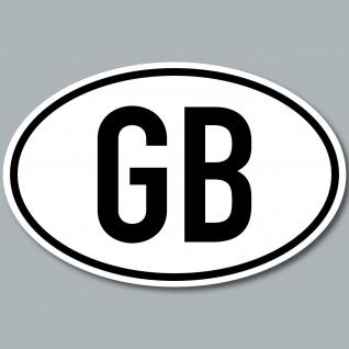 GB Aufkleber Sticker England UK Großbritannien Auto Länderkennzeichen Zeichen