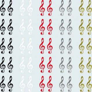 10 Aufkleber 5cm Tattoo Violinschlüssel Notenschlüssel Zeichen Symbol Deko Folie