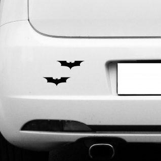 2 Aufkleber Tattoo 10cm schwarz Batman neu Auto Tür Fenster Spiegel Deko Folie