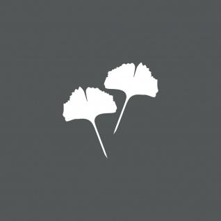 1 Paar 2 Blätter 10cm weiss Ginkgo Blatt Aufkleber Tattoo Gingko 4061963037638 - Vorschau 1