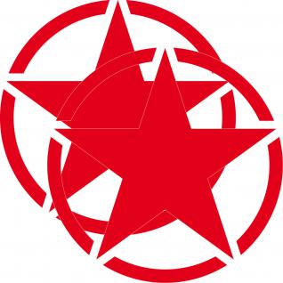 2 Aufkleber 30cm Tattoo rot USA US Stern Auto Jeep Deko Folie Autoaufkleber