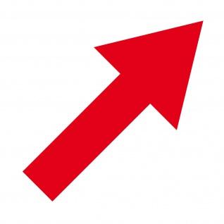 Aufkleber Pfeil 20cm breit rot Tattoo Auto Tür Folie Weg Hinweis Lauf Richtung