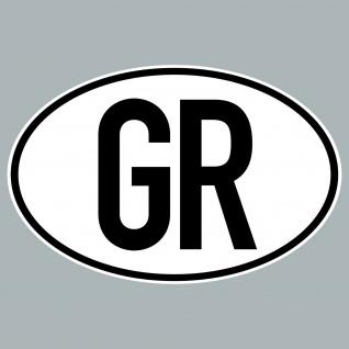 GR Aufkleber Sticker Griechenland Länderkennung Länderkennzeichen 4061963019870