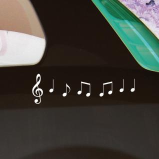 2 Sets Violinschlüssel 10cm + Noten weiß Auto Fenster Tür Aufkleber Tattoo Folie