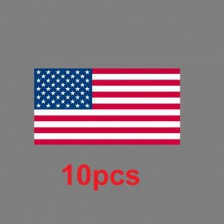 10 Aufkleber 6, 5cm Sticker US Flag USA Amerika Fußball EM WM Flagge Fahne Deko - Vorschau 2