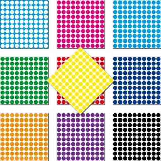 1000 Klebepunkte 3mm selbstklebend Punkt Aufkleber PVC Folie Etiketten Inventur