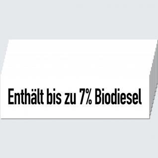 10 Aufkleber Sticker Enthält bis zu 7% Biodiesel Tankstelle Zapfsäule Hinweis