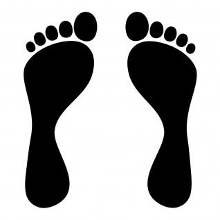 1 Paar 2 Füße 20cm schwarz Fuß Abdruck Aufkleber Auto Möbel Tattoo Deko Folie