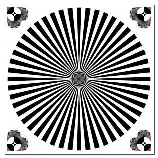 30cm Aufkleber Sticker Siemensstern Auflösung Kamera Objektiv Fokus Test Chart