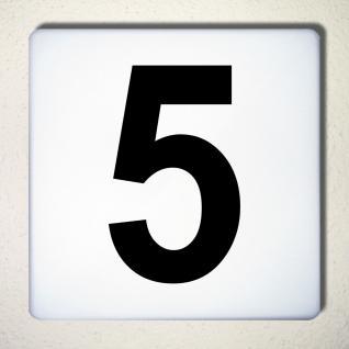 Ziffer 5 schwarz 15cm Aufkleber Tattoo Nummer Zahl Hausnummer Haus Tür Mülltonne