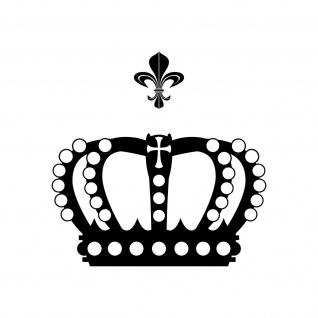 Krone mit Lilie 30cm schwarz Aufkleber Tattoo Deko Folie Auto Möbel Fenster Tür