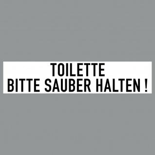 Aufkleber 20cm Toilette Bitte Sauber Halten PVC Sticker Hinweis Tür Wand WC 00